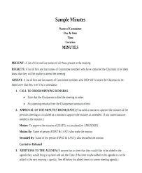 Meeting Outline Sample General Shareholder Meeting Minutes