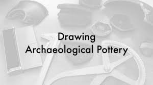 Drawing Archaeological Pottery Rim Of Bowl 1