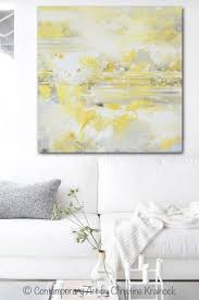 giclee print art yellow grey abstract painting modern coastal canvas art white gold wall decor  on modern canvas painting wall art with canvas art print yellow grey abstract painting modern coastal gold