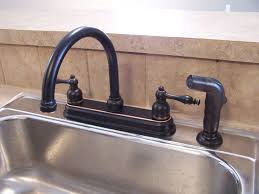 Bronze Kitchen Sink Faucets Black Bronze Kitchen Faucets With Stainless Steel Sink In The