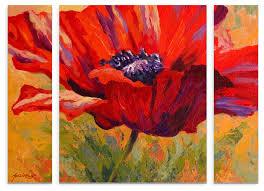 marion rose red poppy ii multi panel