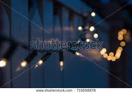 subdued lighting. christmas lights in subdued light draped over residential fence lighting