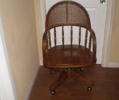 Vintage wooden office chair Kitchen Image Is Loading Vintageoakswivelcanebackofficechairw Cread Vintage Oak Swivel Cane Back Office Chair Wcasters Ebay