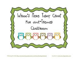 Who S Here Today Chart Printable Whos Here Today Chart Worksheets Teaching Resources Tpt