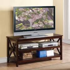 living spaces tv stand. 1PerfectChoice Accent Living Room TV Stand Media Racks 2 Shelves X Side Wood Frame Espresso Spaces Tv D