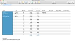 Macsparky Subscription Subscription — Database Database