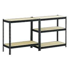 amazing shelf com e d a l u p b k black steel heavy duty 5 shelving unit capacity home depot floating