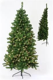 the half tree pre lit led artificial tree