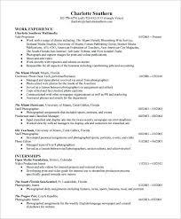 Photography Resume Sample Photographer Resume Photography Internship ...