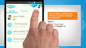 How to block unblock and remove a contact in Skype for Android