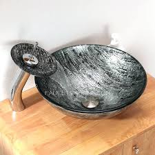 silver vessel sink. Contemporary Vessel Silver Glass Vessel Sink On Silver Vessel Sink