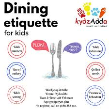 47 List Of Table Manners For Kids, Fun Learning For Kids: Table ...