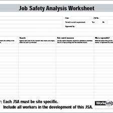 Job Safety Analysis Template Free Best Template Free Job Safety Analysis Format Construction Jsa Examples