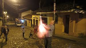 toby shooting the bottle rocket