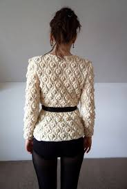 <b>Cardigan</b> suéter hecho a <b>mano de</b> punto blanco lana por bibatron ...