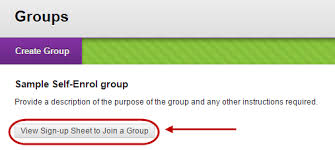 Create Sign Up Sheet Create A Group Set Self Enrol Signup Sheets Elearning