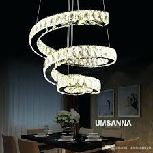 decoration led modern crystal chandeliers spiral chandelier lights fixture dimming hanging lamp cafes villa home