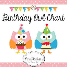 A Printable Birthday Chart For Your Classroom With Owls