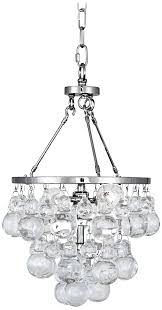 abbey bling small chandelier polished nickel glass robert meurice