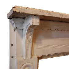 charming antique fireplace mantels salvaged from a house in nashville tn dating from approximately 1890 each mantel shelf is supported by ribbed corbels