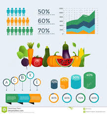 Healthy Vegetables Infographics With Chart And Graph Stock