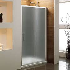 sliding shower doors frosted glass