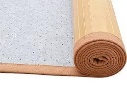 tms 5ft x 8ft natural bamboo slat area rug floor carpet mat w backing indoor