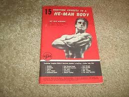 Joe Weider S Bodybuilding System Book And Charts 6 Original Joe Weider Wall Charts Weider System Of