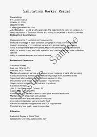 Sanitation Worker Sample Resume Work Objective Job For Administrative Assistant Template Resume 2