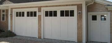 white wood garage door. White Wood Garage Door With Windows