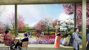rendering of the houston botanic garden a 150 acre attraction planned for completion in