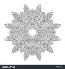 Adult Coloring Book Page Mandala Ornament