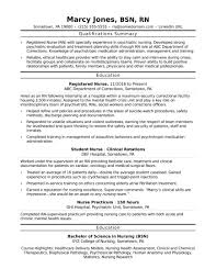 Nursing Resume Examples 2015 Nurse Resume Examples Resumes Without Experience 100 Sample 50