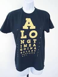 Threadless A Long Time Ago Star Wars Eye Chart T Shirt