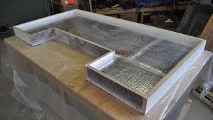how to make a concrete counter a