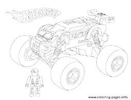 Hot Wheels Monster Truck Colouring Pages Monster Truck Coloring