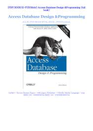 Database Design And Programming Free Download Access Database Design Programming For Online