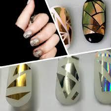 Aliexpress.com : Buy Mirror Foil Broken Glass Stickers for Nails ...