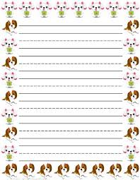 best printable stationery ideas flower girl dogs printable kids stationery printable writing paper for kids primary lined