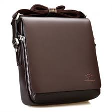 kangaroo kingdom premium pu leather men messenger bag