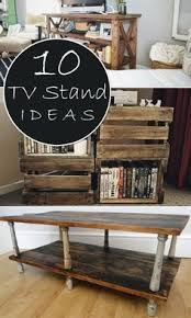 10 Unique DIY TV Stand Ideas The bottom pic but w pipes