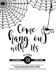 Halloween Dance Flyer Templates Halloween Come Hang Out Event Poster Template In 2019