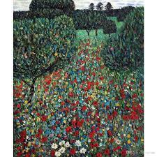 Acquista Gustav Klimt Paesaggi Opere Darte Riproduzione Poppy Field Pittura  A Olio Su Tela Decorazione A Parete Fatta A Mano Di Alta Qualità A 88,9 €  Dal Reeme
