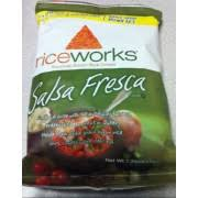 rice works salsa fresca riceworks brown rice crisps salsa fresca calories nutrition