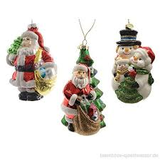 Christbaumfiguren Santa Clause Schneemann