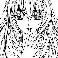 Coloriage Manga Fille Tr S Triste Imprimer