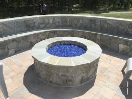 hanover paver patio stone gas fire pit seating