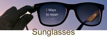 sunglasses scratch repair