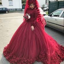 ball gown for plus size burgundy muslim wedding dresses plus size bridal gowns flowers long