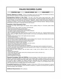 Distribution Clerk Resume Law Enforcement Temp Saneme